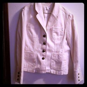 White jacket.